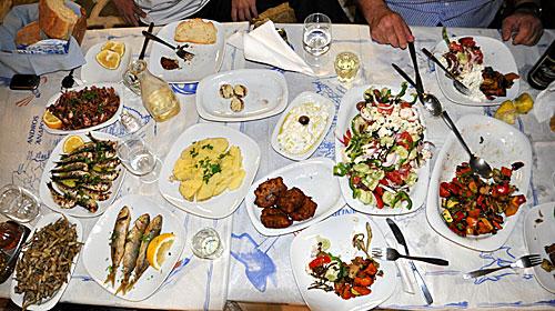 typisk grekisk mat
