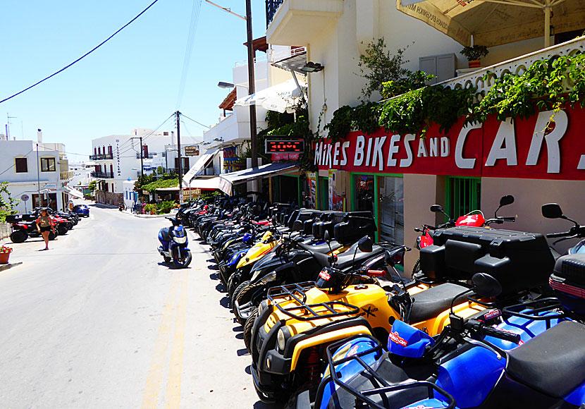 Hyra Moped Cykel Och Bil På Naxos Buss Badbåt