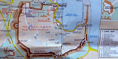rhodos gamla stan karta Karta över Rhodos. rhodos gamla stan karta