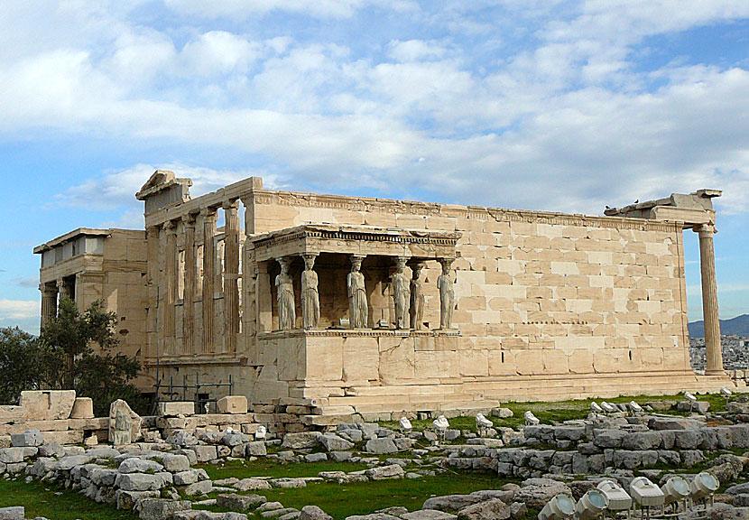 Basarområde i aten nedanför akropolisklippan