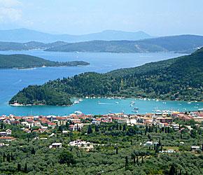 Nidri. Lefkas. Grekland.